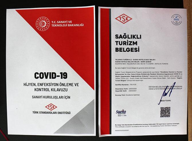 «Сертификат здорового туризма» в Турции